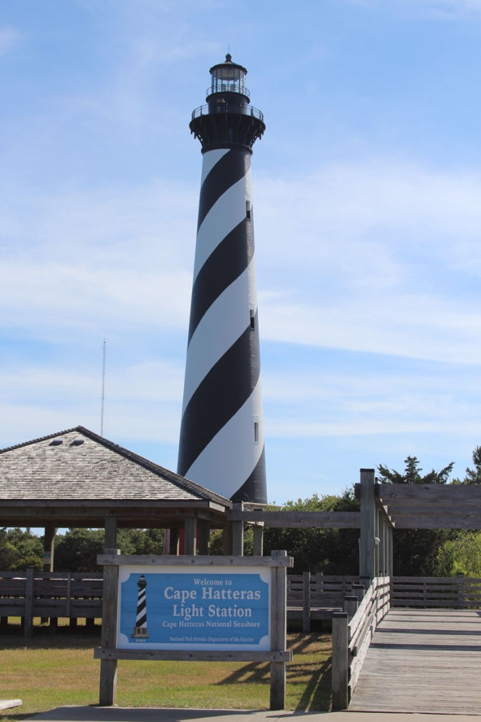 Hatteras lighthouse sign