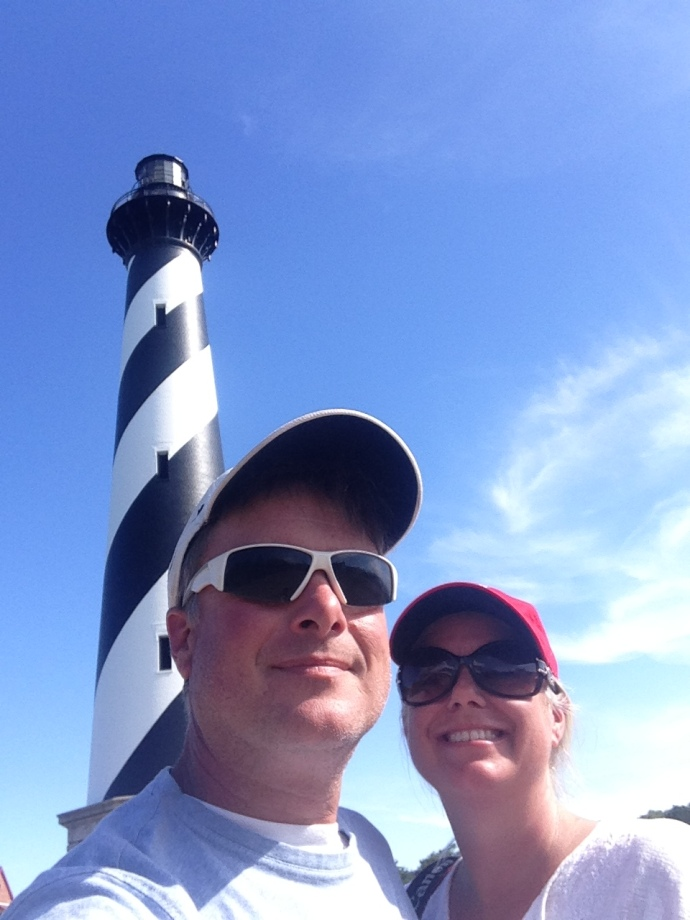 Jamie and Wally Hatteras lighthouse selfie