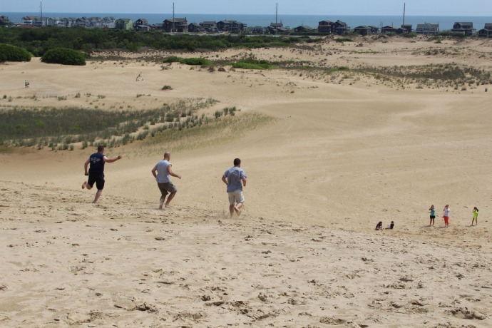 Jockey Ridge guys running downhill