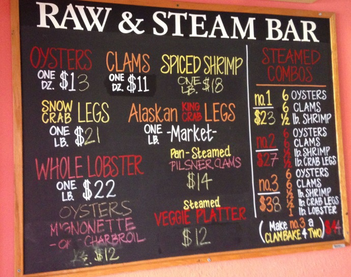 Nags Head, Mulligan's raw & steam board