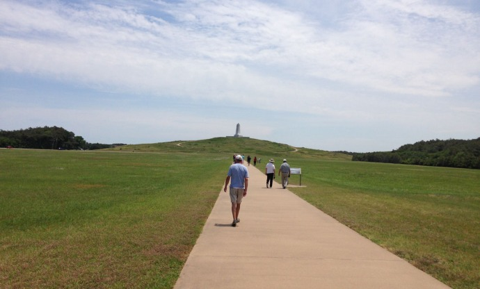 Wright Bros walk to monument