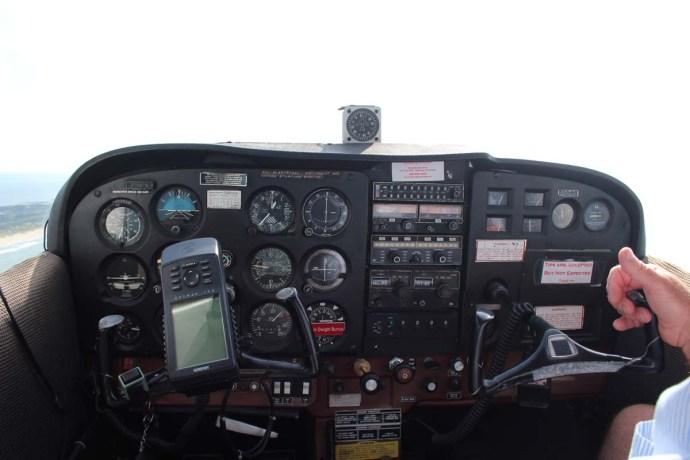 Hatteras cockpit panel
