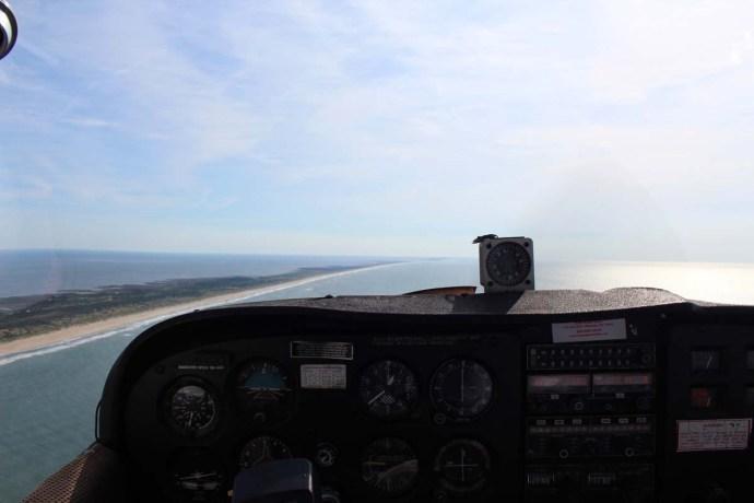 Hatteras cockpit view