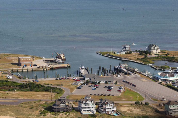 Hatteras Ferry and houses