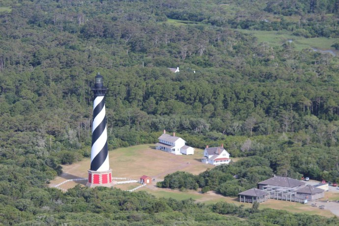 Hatteras Lighthouse, houses, wc