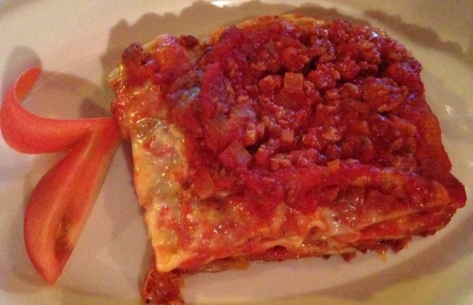La Siesta Pizzeria, Tulum lasagne