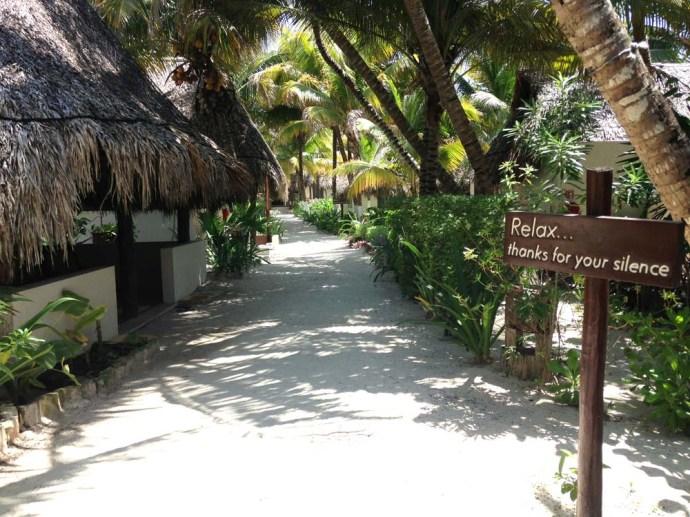 Maya Tulum path & sign