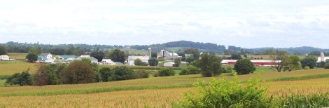 Amish Country, farm scene banner