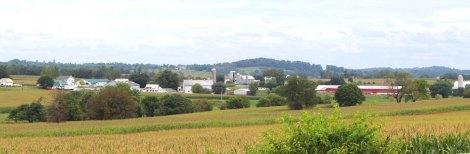 Amish Country, farm scene banner