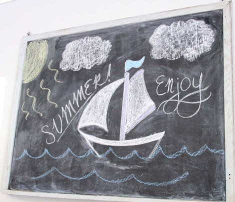 Amish Country, White Horse chalkboard