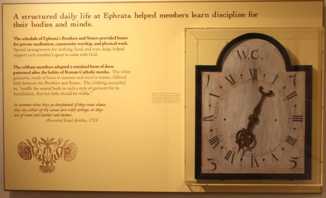 Ephrata Cloister clock