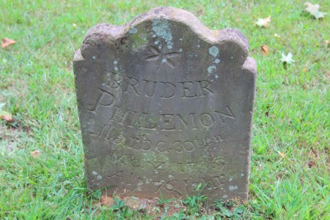 Ephrata Cloister Philemon headstone