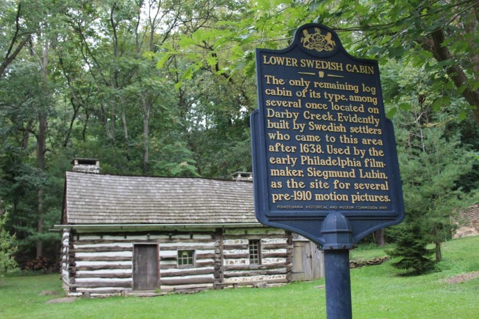 Lower Swedish Cabin with marker
