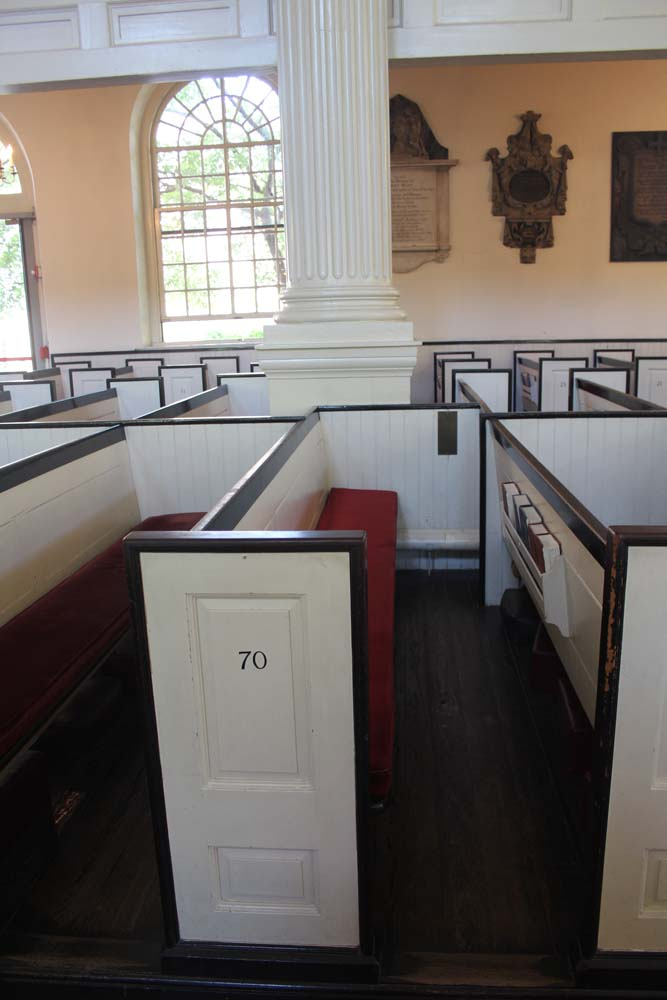 Philly, Christ Church Ben Franklin's pew