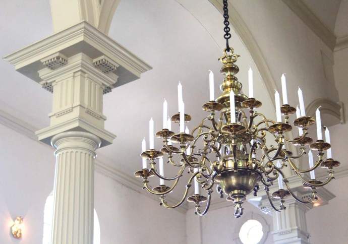 Philly, Christ Church chandelier & column top