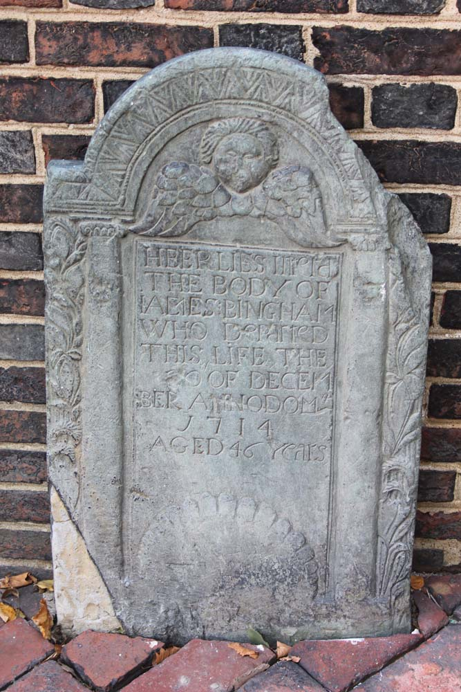 Philly, Christ Church headstone