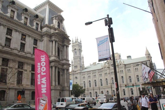 Philly City Hall and church