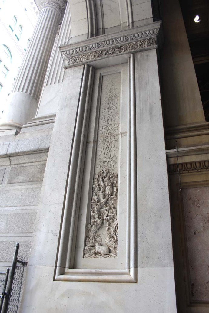 Philly City Hall carving & column
