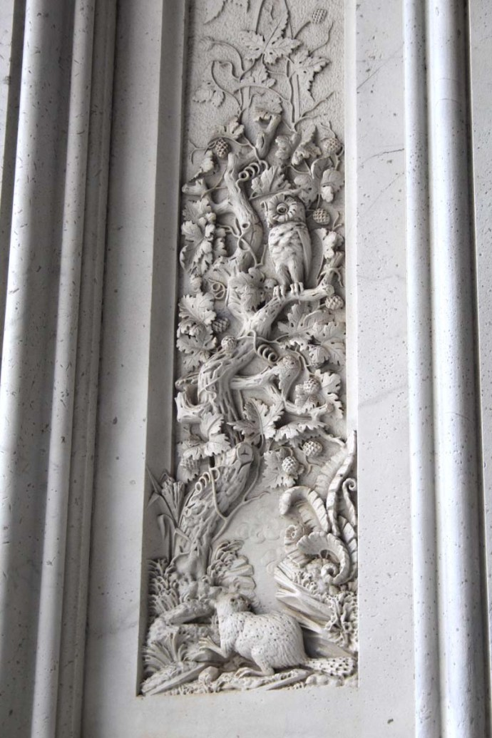 Philly City Hall carving detail