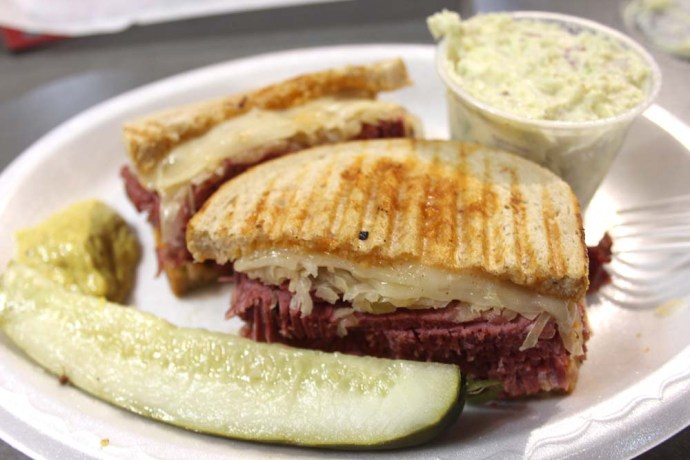 Philly REading Market reuben plate