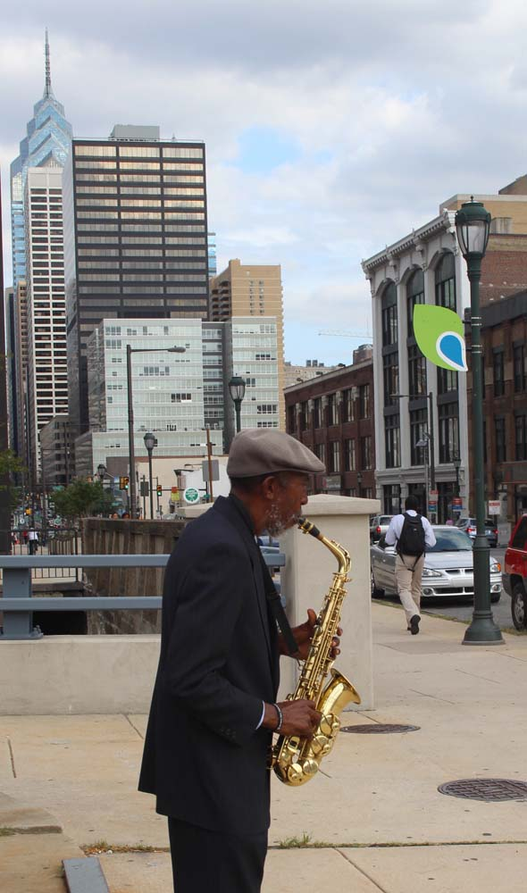 Philly sax player