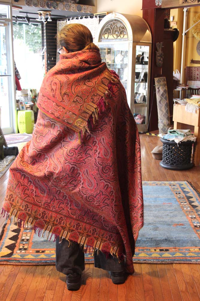 Philly Woven Treasures how to wear shawl
