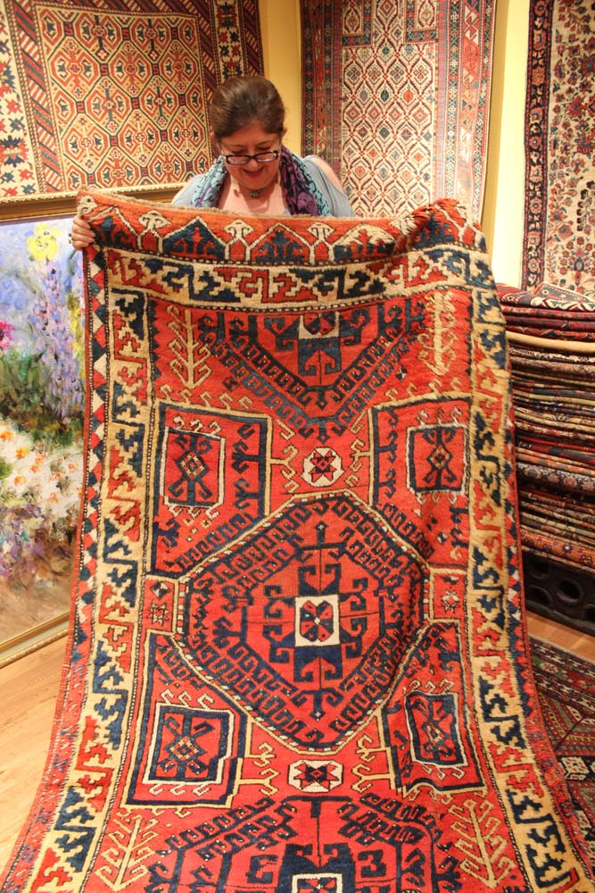 Philly Woven Treasures rug & proprietor