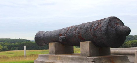 Valley Forge cannon and obelisk