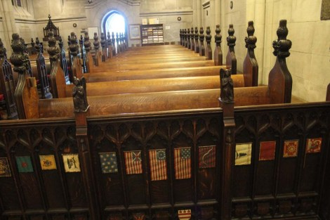 Valley Forge chapel pews