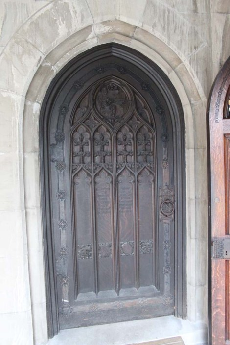 Valley Forge chapel wood carved door
