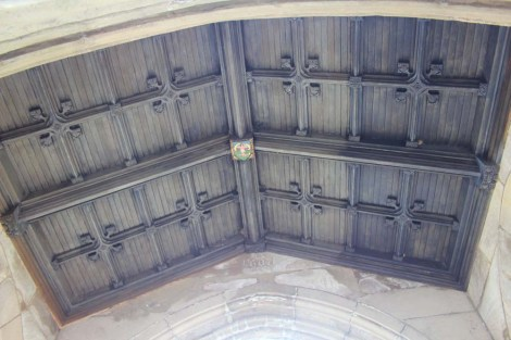 Valley Forge chapel wood ceiling