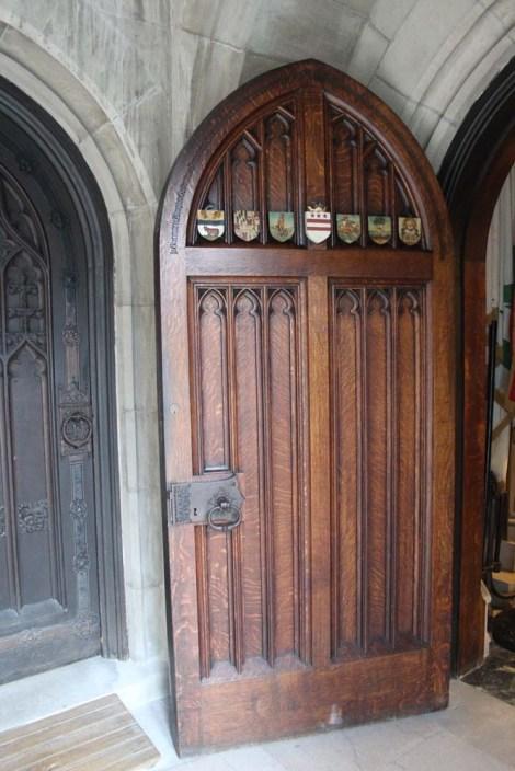 Valley Forge chapel wood door