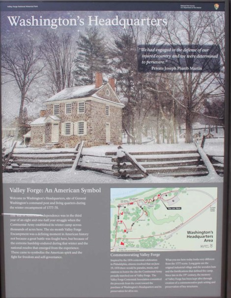 Valley Forge headquarters sign